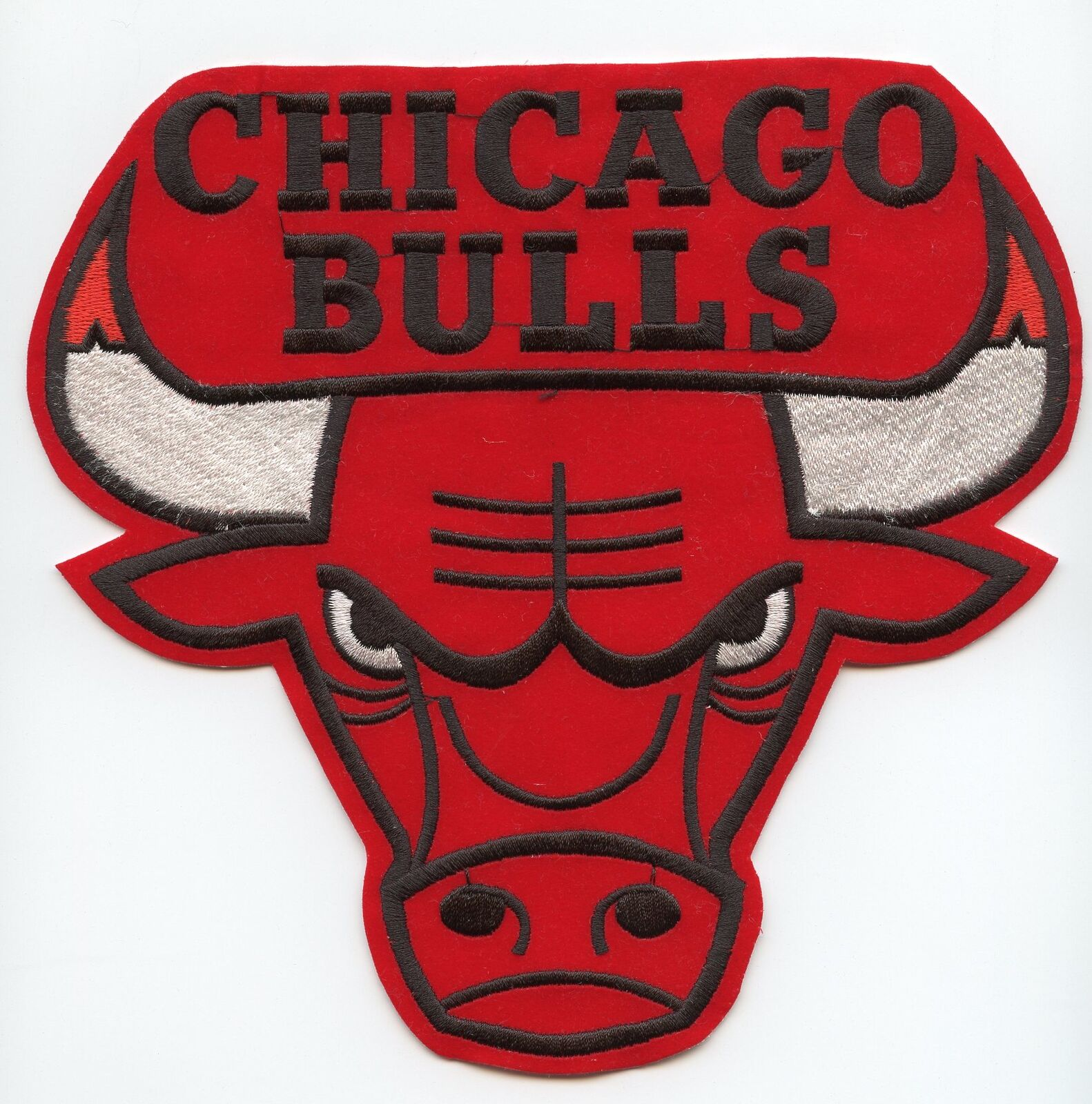 Details about NBA CHICAGO BULLS Logo Emblem Embrodiered Suede Patch 7\