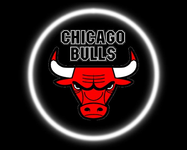 2 Wireless LED Laser Chicago Bulls Car Door Lights.
