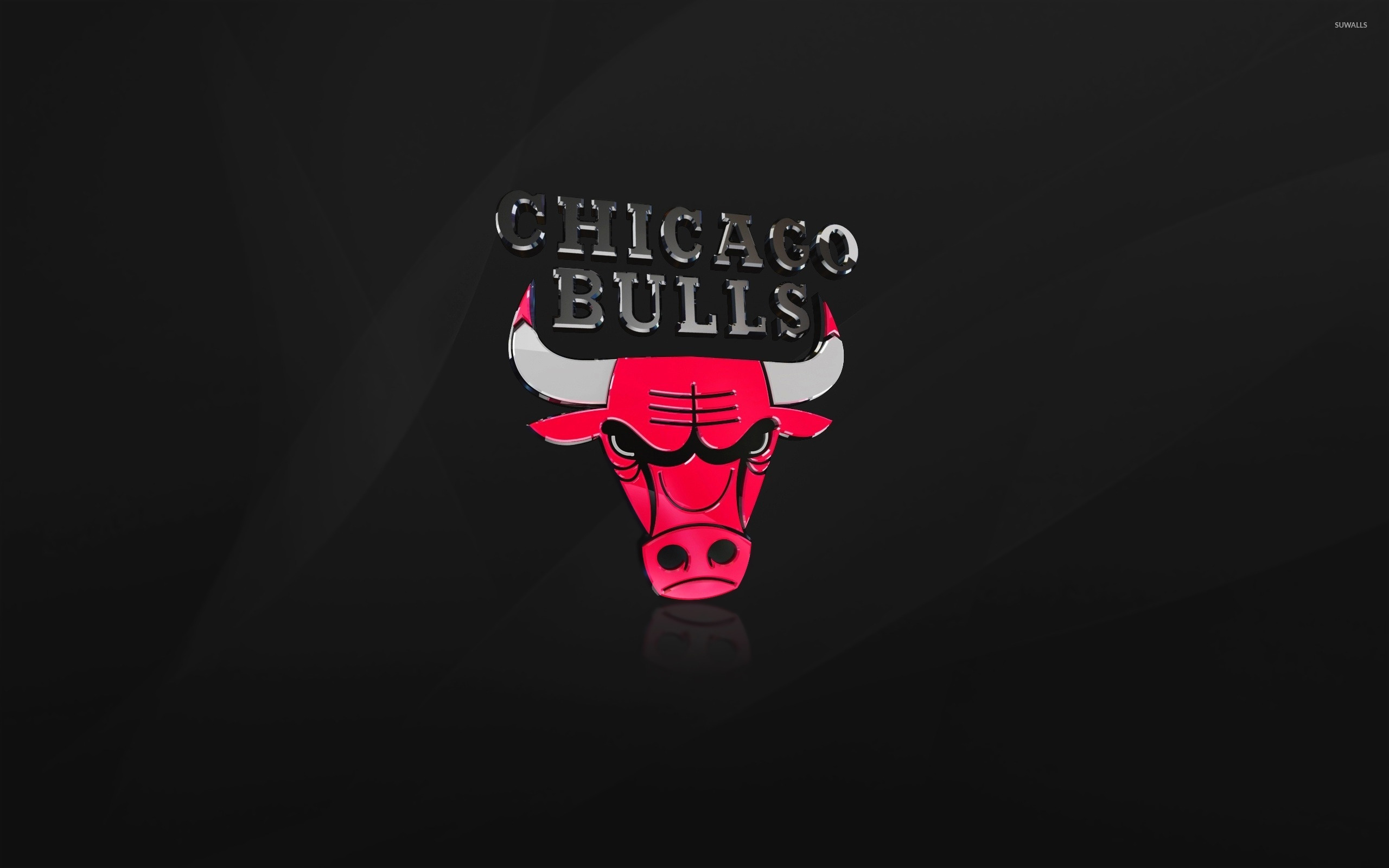 Shiny Chicago Bulls logo wallpaper.