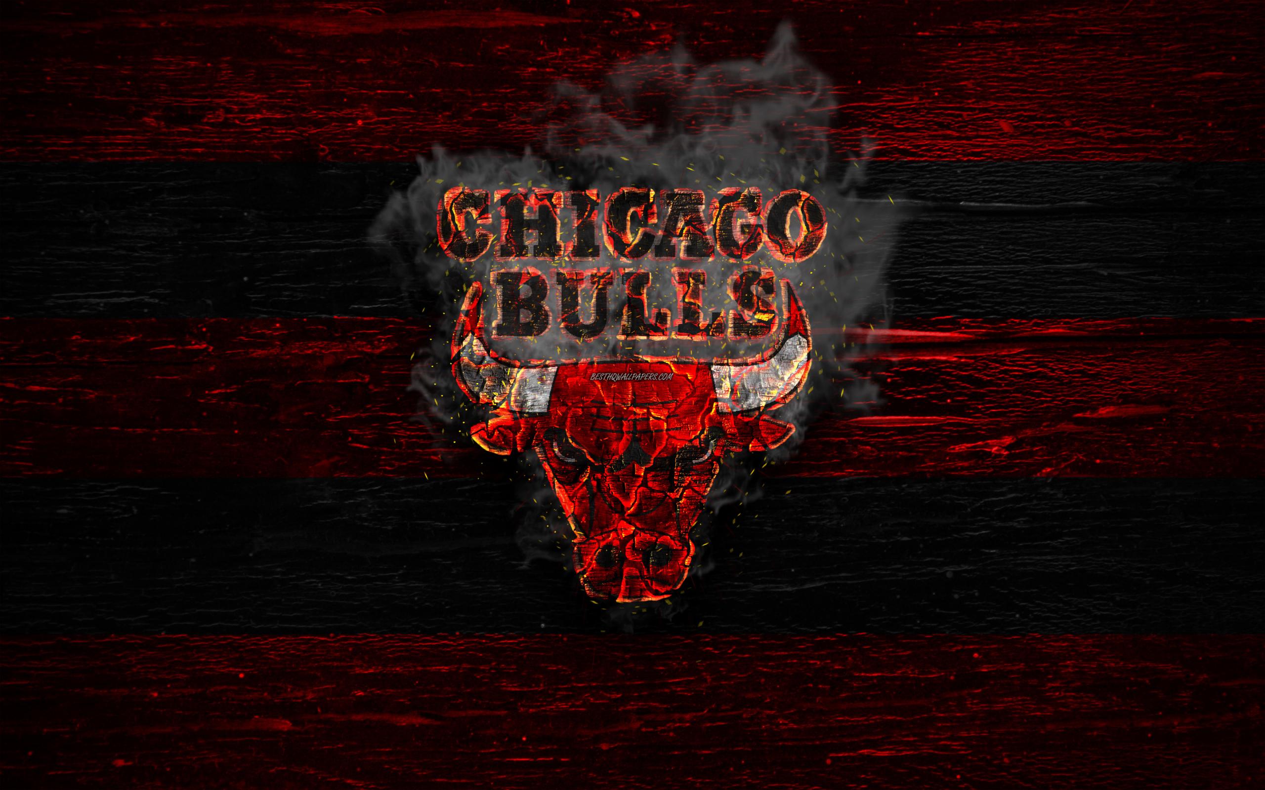 Wallpaper Of Basketball, Chicago Bulls, Logo, Nba Background.