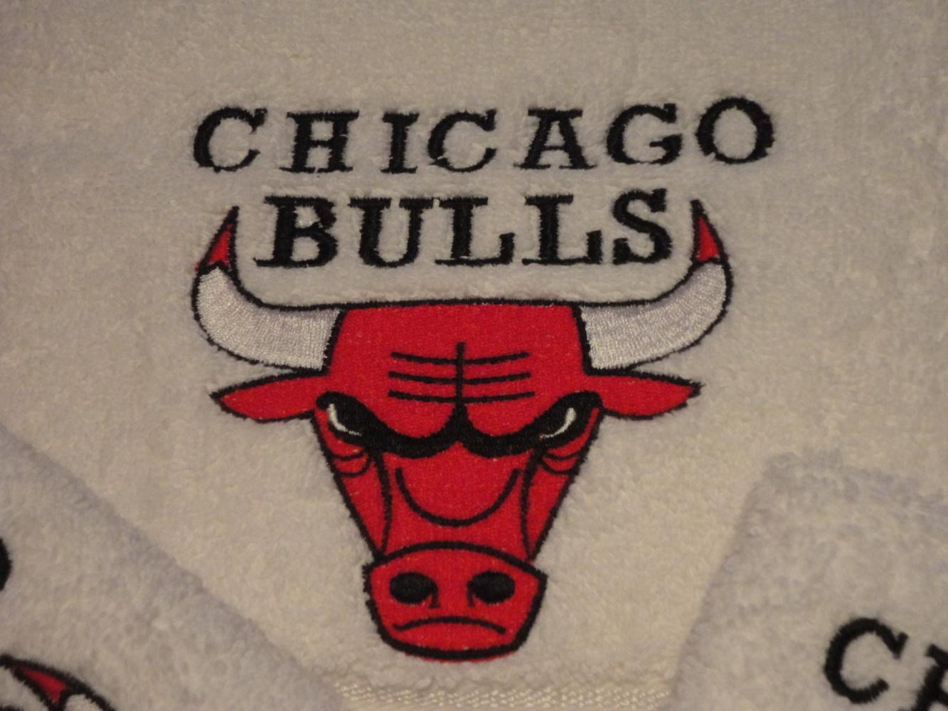 Chicago Bulls logo embroidery design.