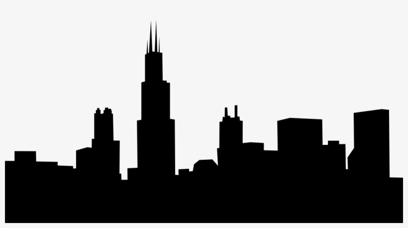 Vector Chicago Skyline Clipart Free.