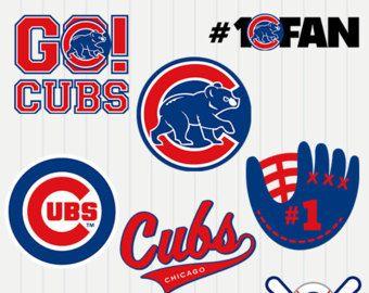 Chicago Cubs SVG, Chicago Baseball Clipart, Chicago Baseball.