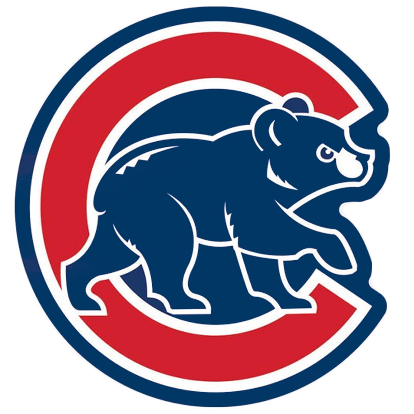 Details about Chicago Cubs MLB Baseball Alternate Walking Bear Logo Blue  Border Decal 4 x 4.