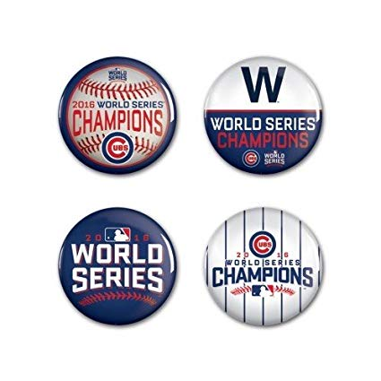 Chicago Cubs World Series Champions 4 Pack Pins.