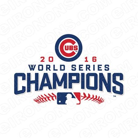 CHICAGO CUBS WORLD SERIES CHAMPIONS 2016 LOGO SPORTS MLB.