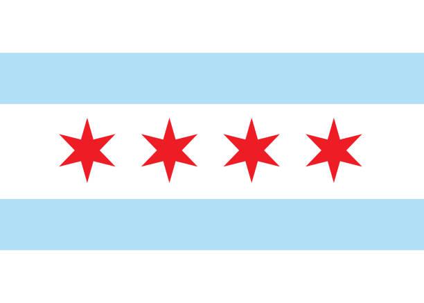 Best Flag Chicago Illustrations, Royalty.