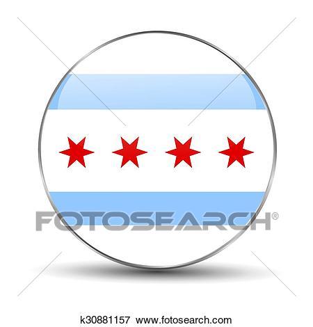 Chicago flag Clip Art.