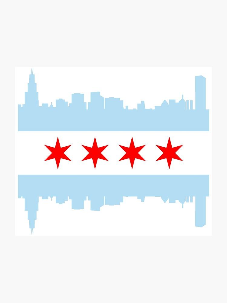 Chicago Flag Skyline.