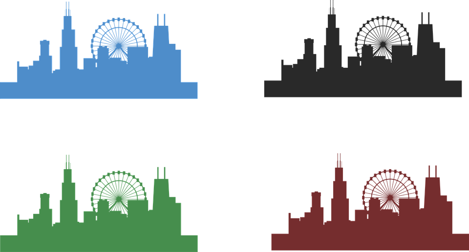 Free vector graphic: Chicago Skyline, City, Architecture.