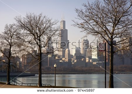 Chicago Winter Stock Images, Royalty.