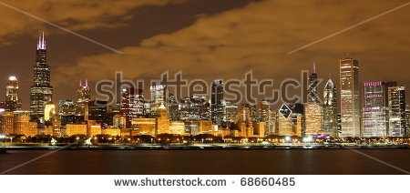 Chicago Panorama Stock Images, Royalty.