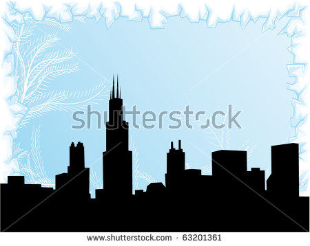 Chicago Snow Stock Photos, Royalty.
