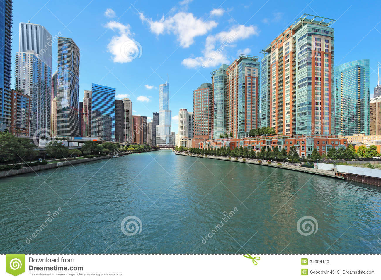 Chicago river clipart.