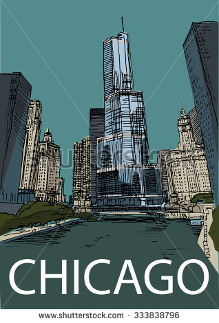 Chicago River Stock Vectors & Vector Clip Art.