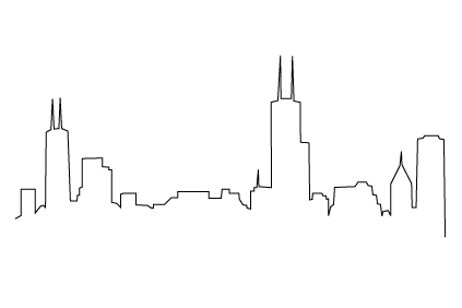 Chicago Skyline Drawing.