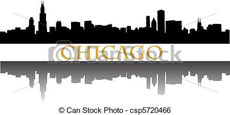 Clip Art Vector of chicago skyline csp5720466.