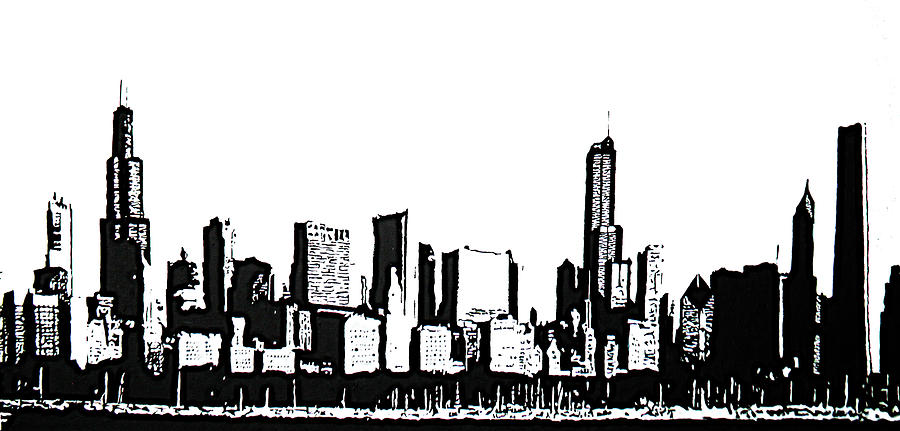 Free Chicago Skyline Clipart Image.