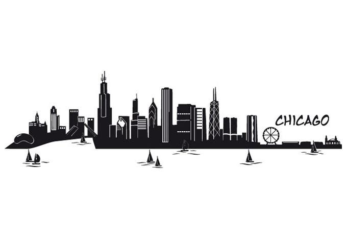 Chicago Skyline Vector.
