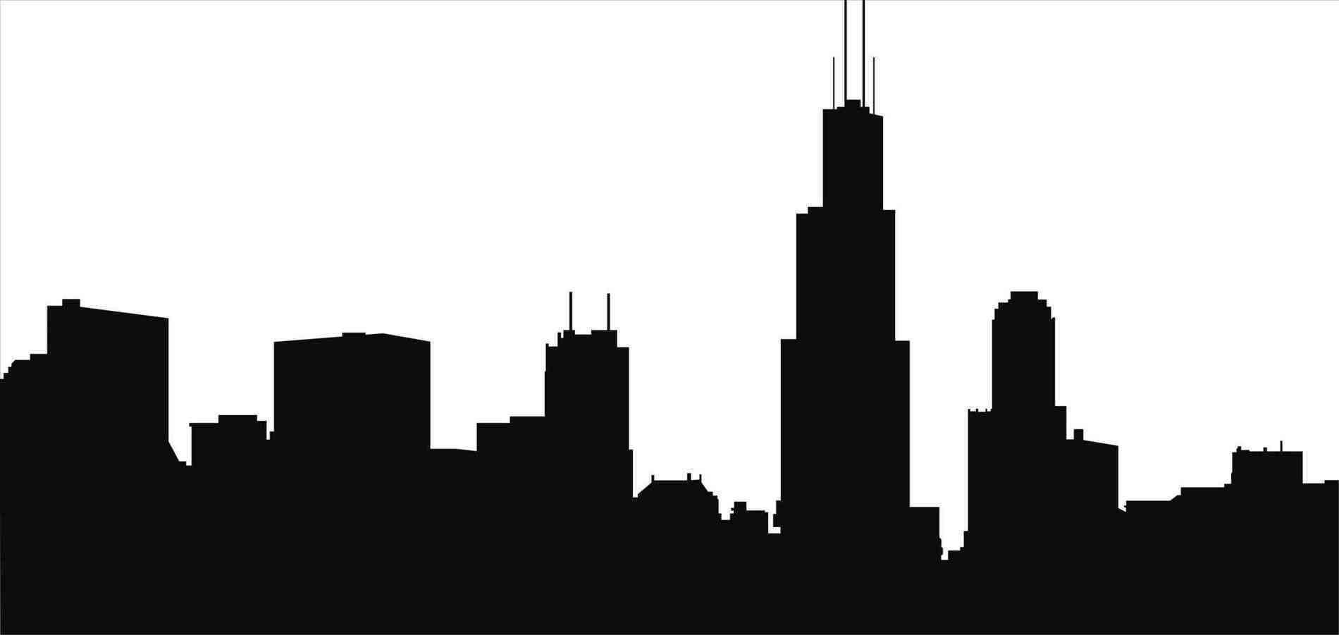 Collection of Chicago skyline clipart.