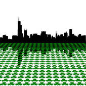 Chicago Skyline Stock Illustrations.