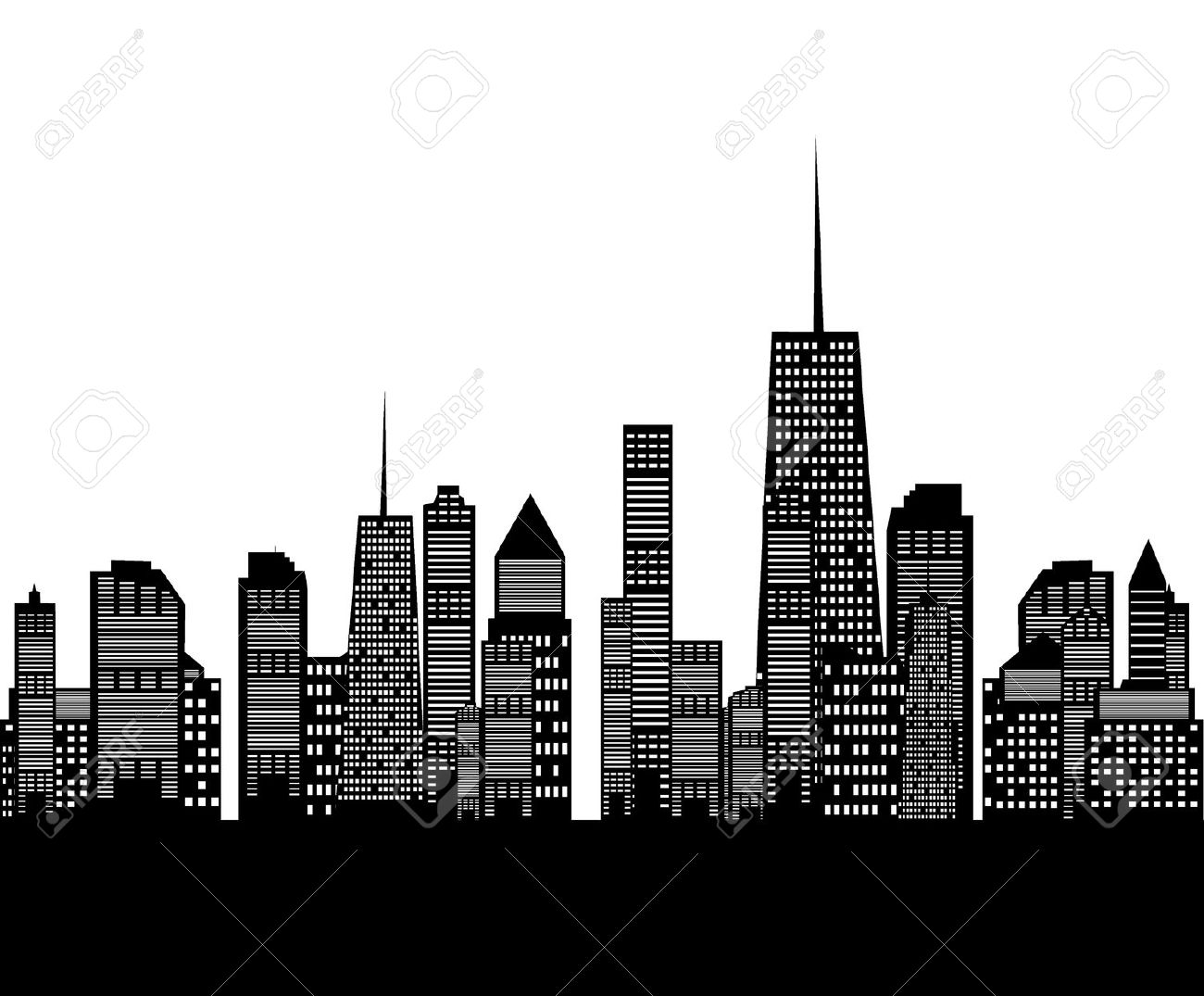 Chicago Skyline Clipart Free Download.