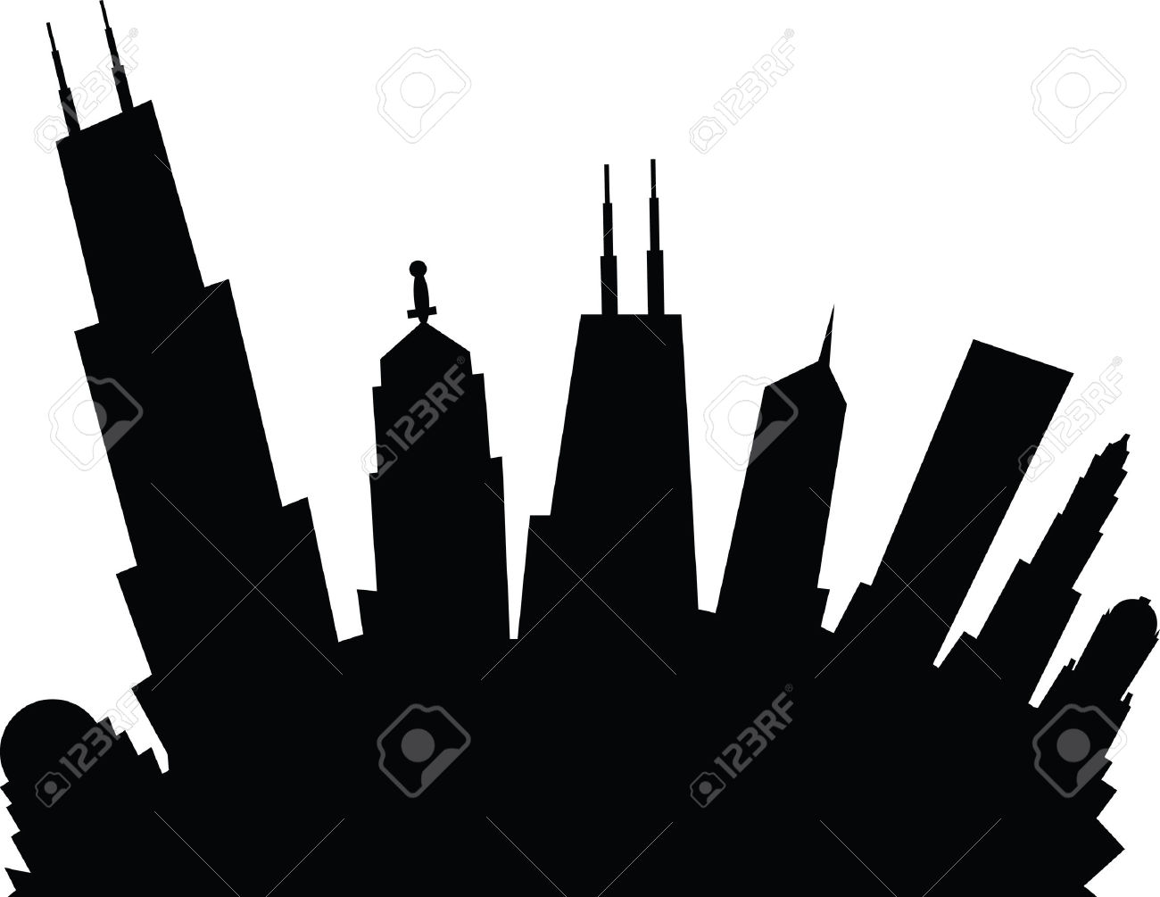 Showing post & media for Cartoon chicago skyline clip art.