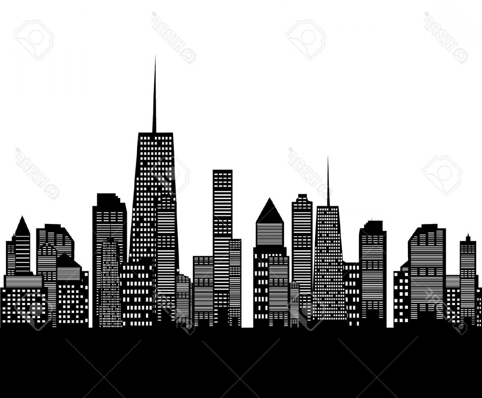 Free Chicago Skyline Clipart Free Download Illustration.