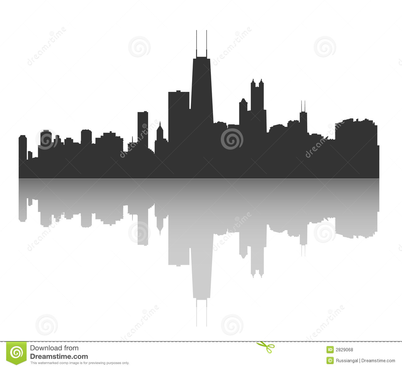 Chicago Skyline Royalty Free Stock Photos.