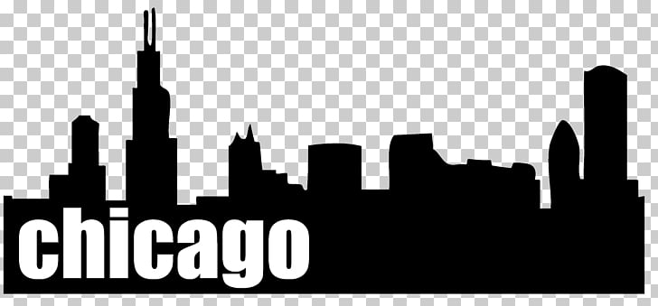 Chicago Drawing Skyline , city silhouette PNG clipart.