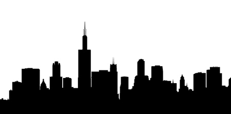 Free Silhouette Chicago Skyline, Download Free Clip Art.