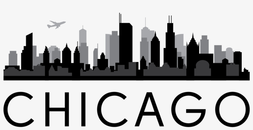 Chicago Skyline Outline Png Transparent PNG.