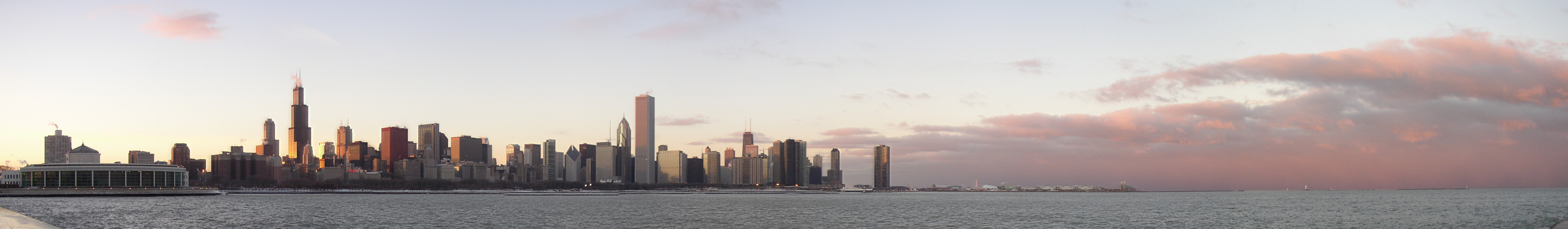File:Chicago Skyline at Sunset.png.