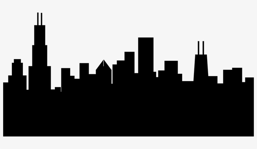 Chicago Silhouette Png Vector Royalty Free.