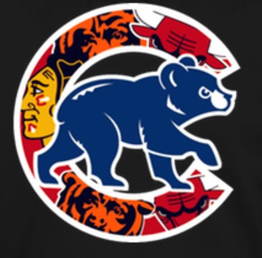 Chicago teams combined, all logos.