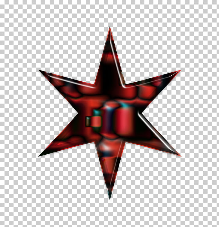 Flag of Chicago Red star, etoile PNG clipart.