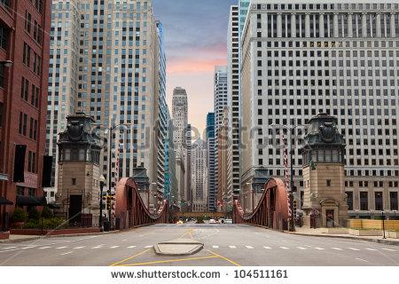 Chicago Bridge Stock Photos, Royalty.