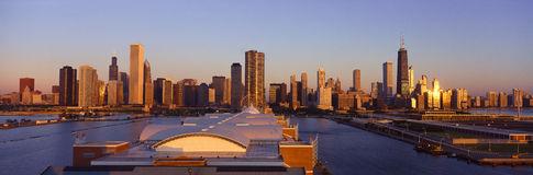 Chicago Skyline Sunrise Chicago Illinois Stock Photos, Images.