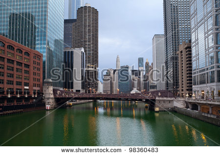 Chicago River Stock Images, Royalty.