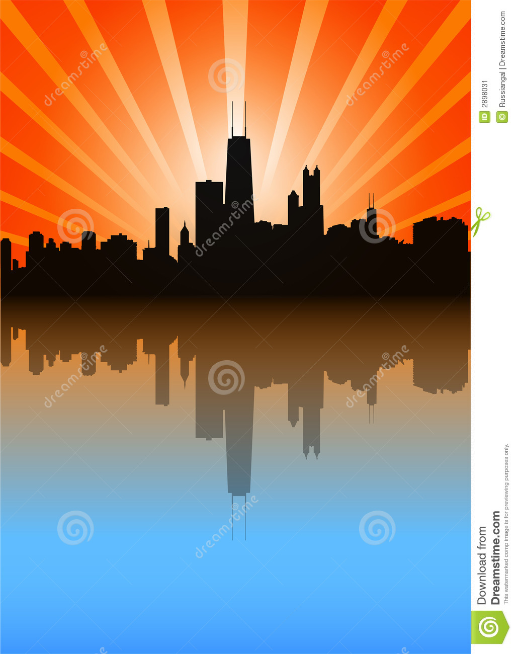 Chicago Skyline Stock Image.