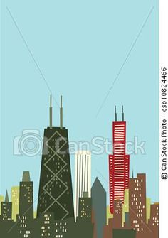 chicago #skyline #sunset #buildings #paper #art #cutting #scissors.