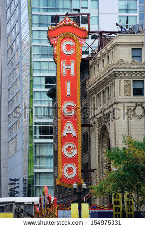 Chicago Theater Sign Stock Photos, Royalty.