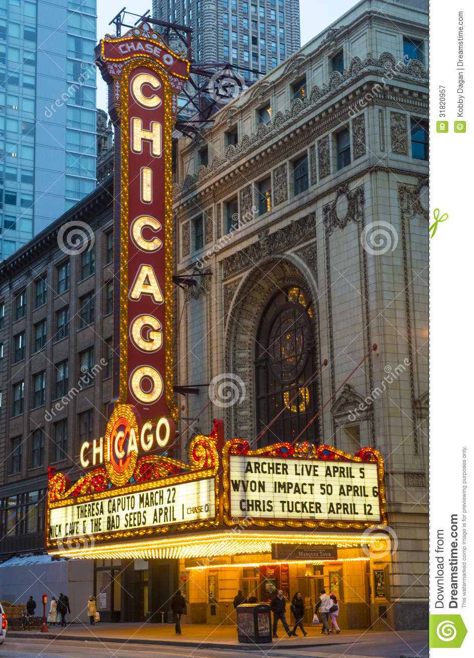 Chicago Theater Editorial Photography.