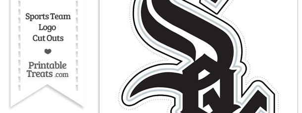 Large Chicago White Sox Logo Cut Out — Printable Treats.com.