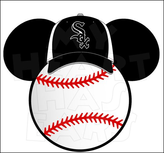 Chicago White Sox baseball with Mickey Mouse INSTANT DOWNLOAD.