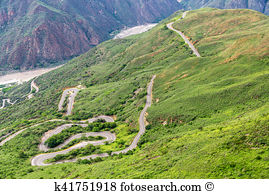 Switchback road Stock Photo Images. 226 switchback road royalty.