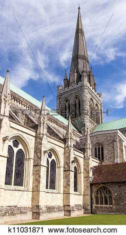Stock Photography of Chichester Cathedral k11031871.
