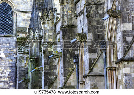 Pictures of England, West Sussex, Chichester. Gargoyles on the.