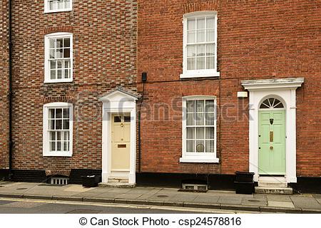 Stock Photography of Georgian doors, Chichester.