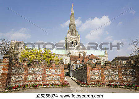 Stock Photo of England, West Sussex, Chichester, A view toward.